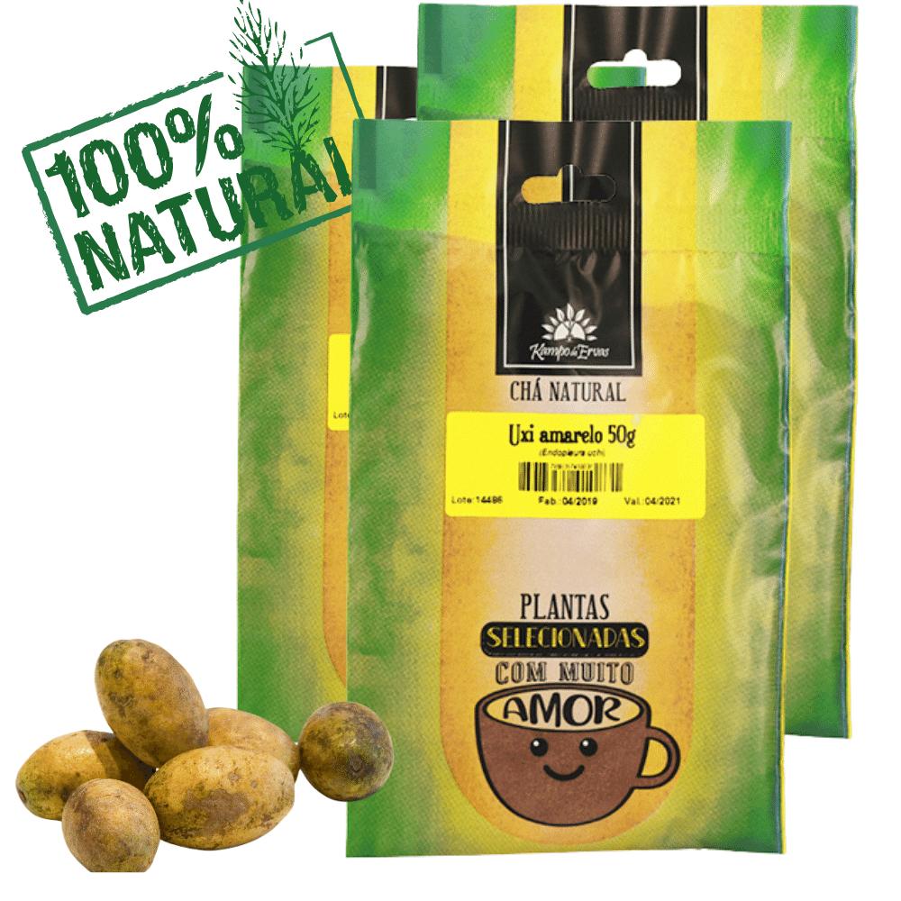 3 Chás Uxi Amarelo PURO 100% pó da casca 56 g Kampo de Ervas