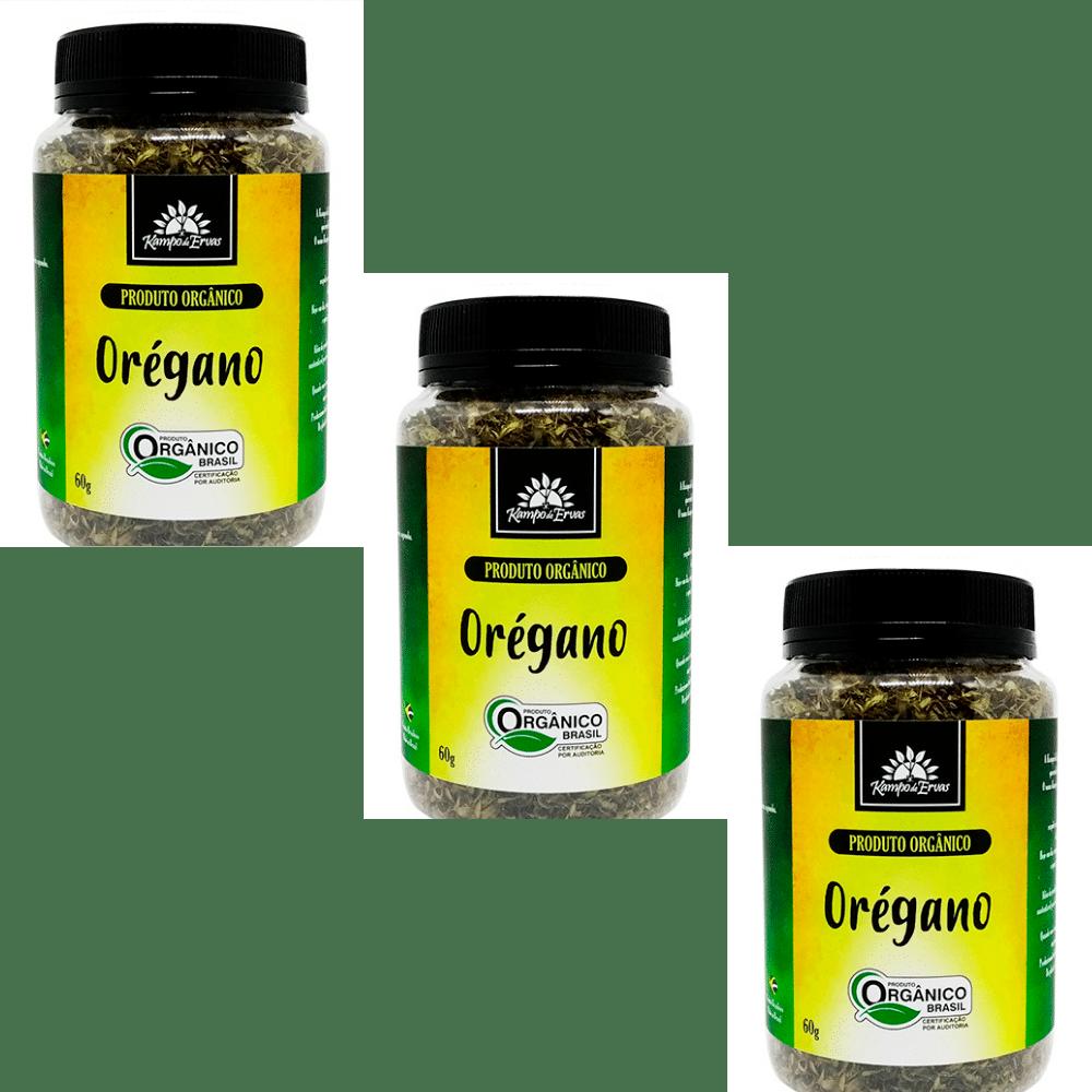 3 Oréganos PURO desidrat Potão de 60 g - Orgânico e Certific