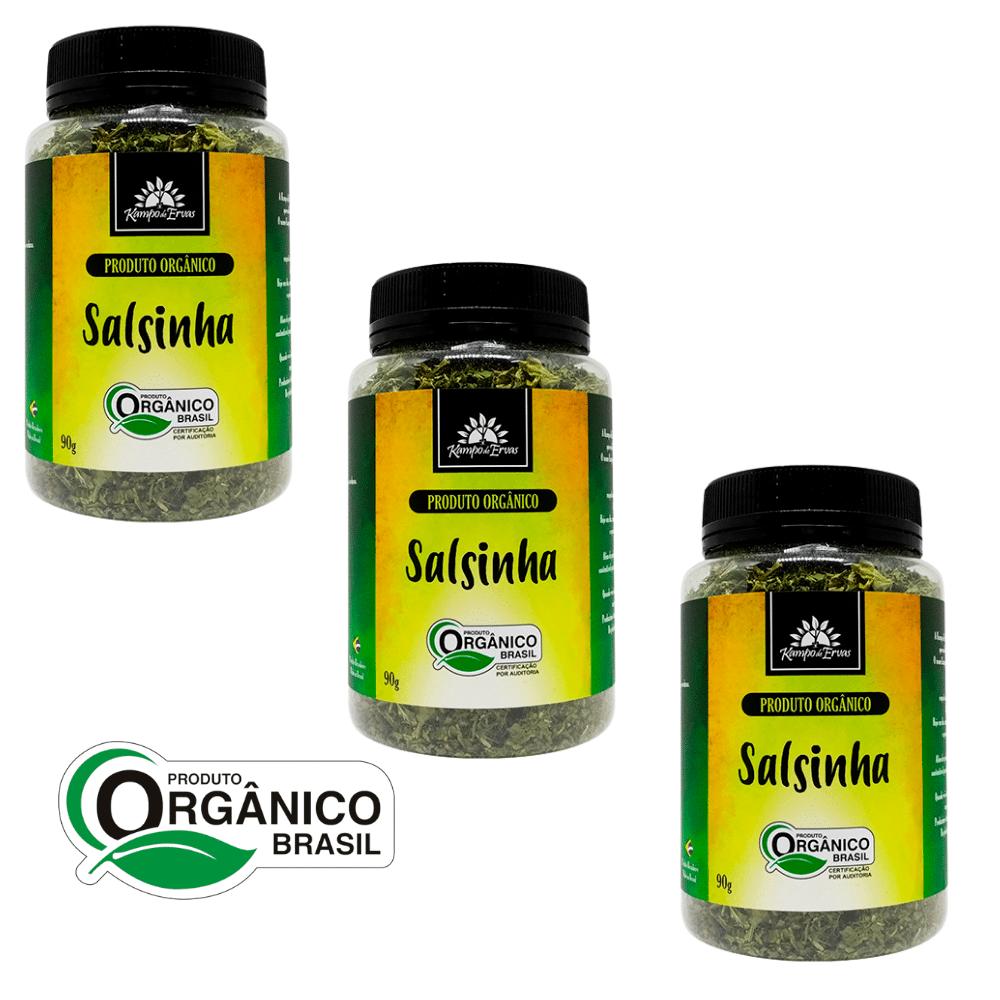 3 Salsas ou Salsinha PURA Potão de 90 g  Orgânica e Certif.