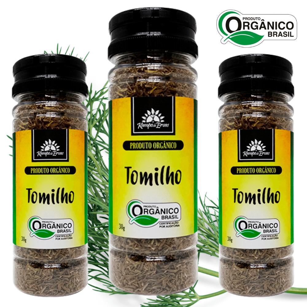 3 Tomilhos PURO desidr frasco 30 g - Orgânico e Certificado