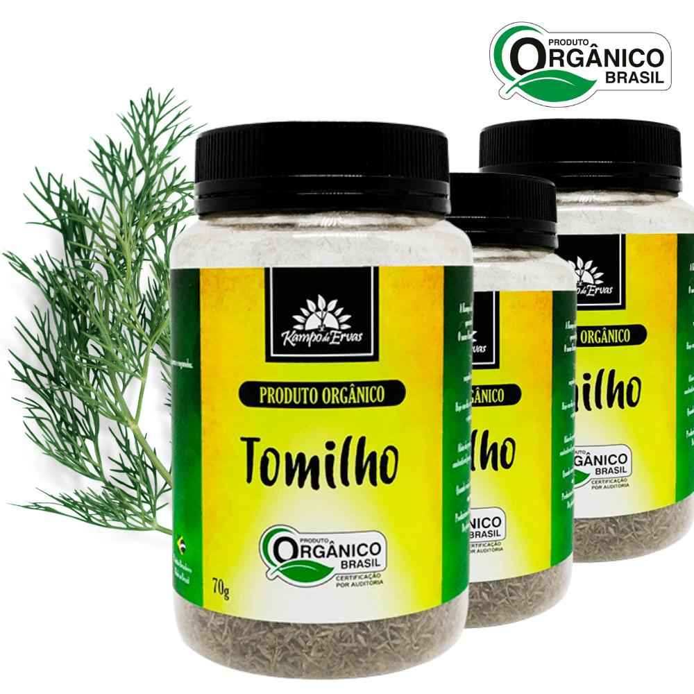 3 Tomilhos PURO desidrat frasco 70 g  Orgânico e Certificado