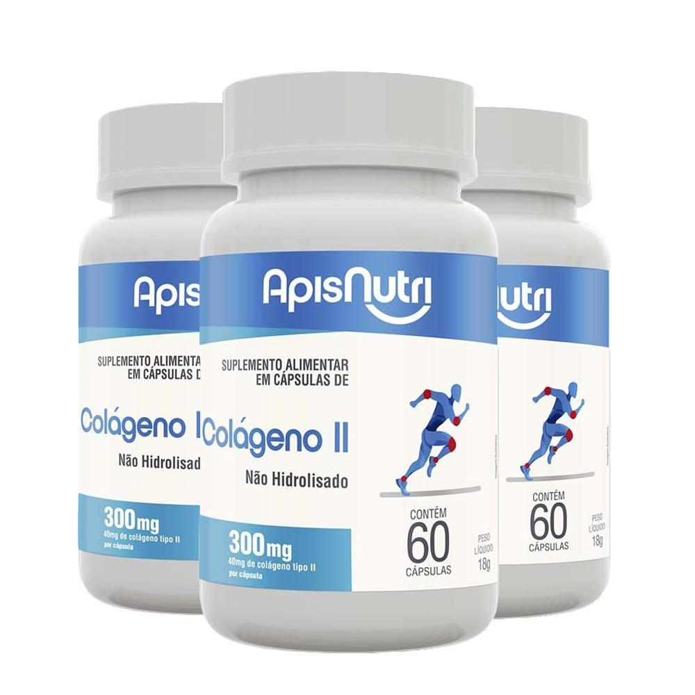 3x Colágeno Tipo 2 60cps 300mg - Apisnutri