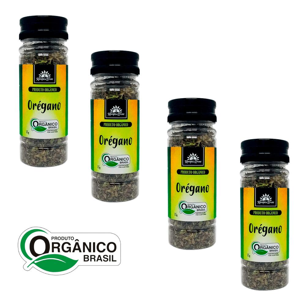 Orégano Orgânico Kampo de Ervas 4 frascos de 15 g cada