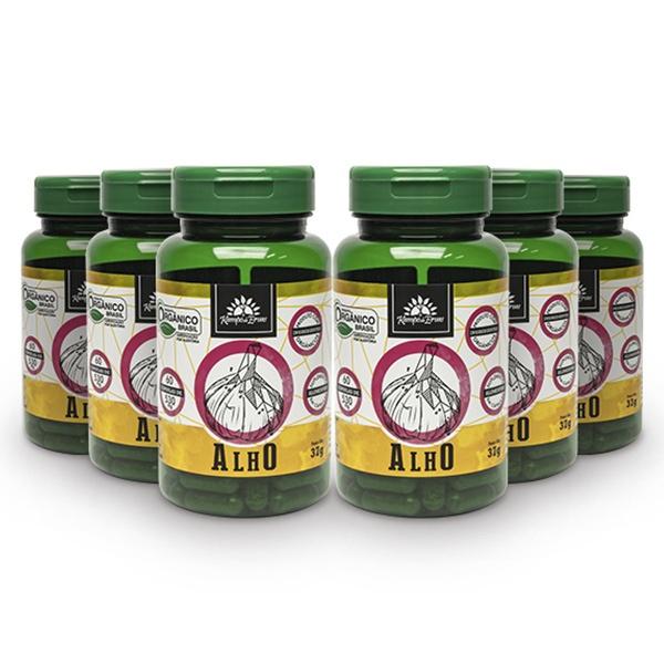 6 Alhos - 60 cáps 530 mg /3,2 mc ALICINA - Orgânico e Certif