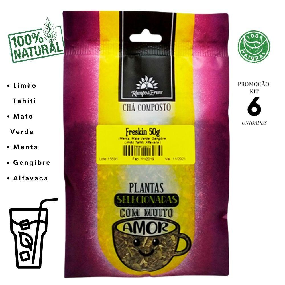 Freskin Chá Disposição Energia Menta Mate Verde 6 und 300g