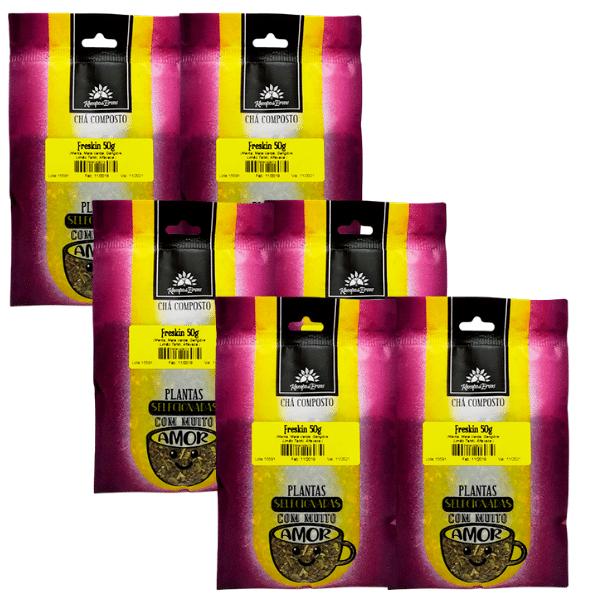 6 Chá Freskin 100% ervas naturais que refresca o seu dia 50g