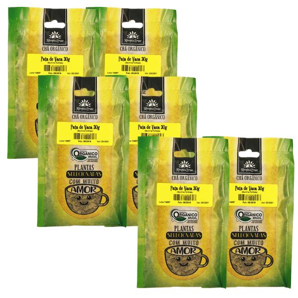 6 Chá Pata de Vaca PURA 100% Folhas 30 g - Orgânica e Certif