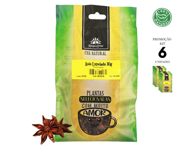 Anis Estrelado Chá Tempero Natural Kampo de Ervas 6 und 30g