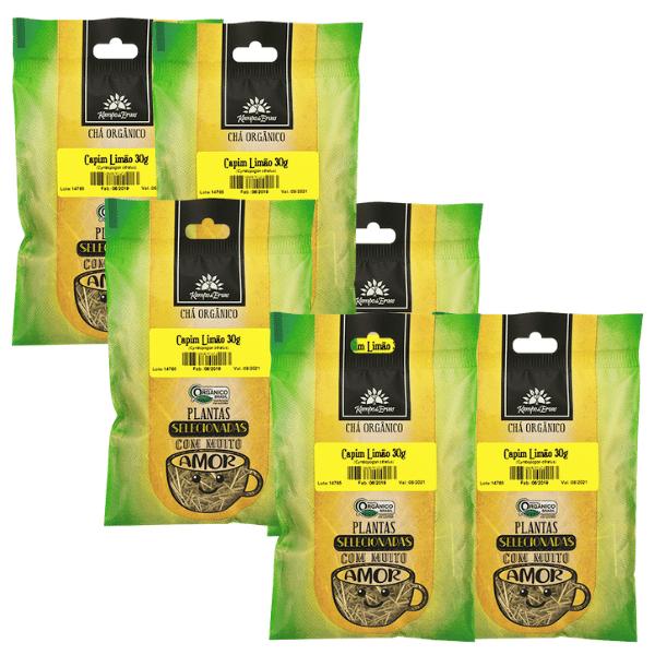 Capim Limão Orgânico só Folhas 6 und 30g cada Kampo de Ervas