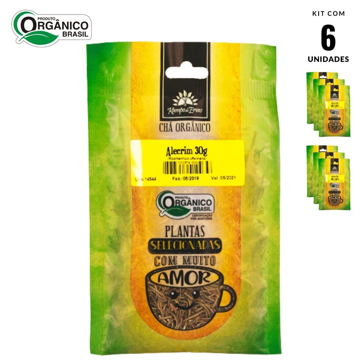 Alecrim Orgânico 100 % Folhas Kampo de Ervas 6 und 30g cada