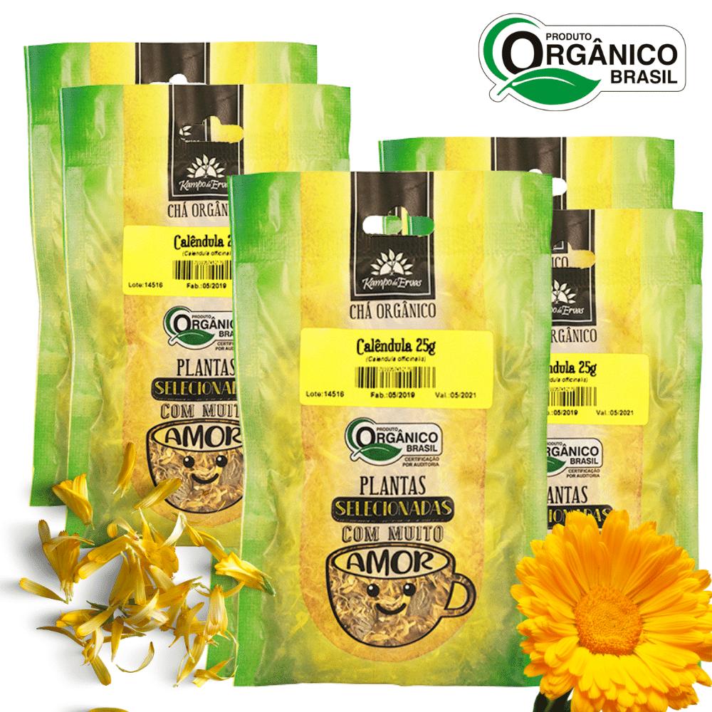 Calêndula Chá Orgânico só Flor Kampo de Ervas 6 und 25g cada