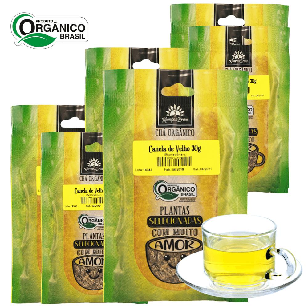 6 Chás de Canela de Velho 100% Folhas 30g Orgânica e Certifi