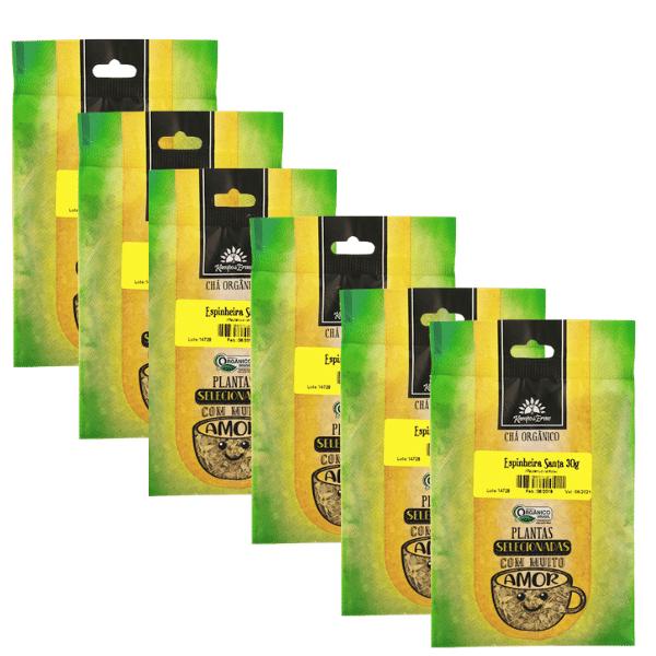 Espinheira Santa Chá 100% Natural só Folhas 6 und 30g cada