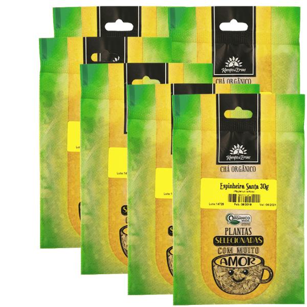 Espinheira Santa Chá Orgânico 100% Folhas 6 pacotes 30g cada