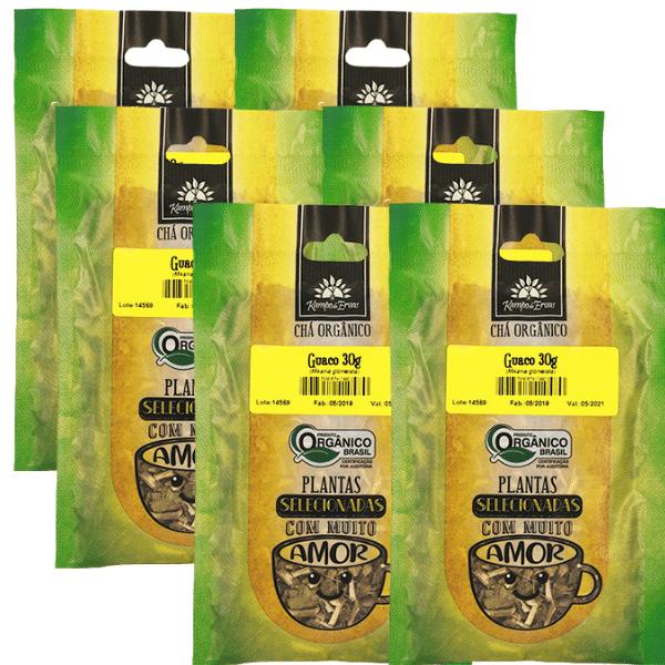 Guaco Orgânico Chá 100% Folhas 6 und 30g cada Kampo de Ervas