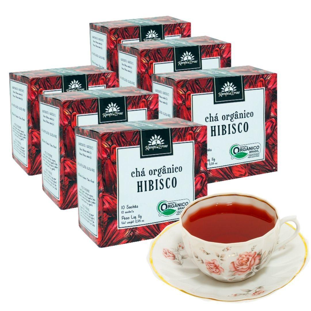 Hibisco Chá Orgânico e Certificado 60 sachês
