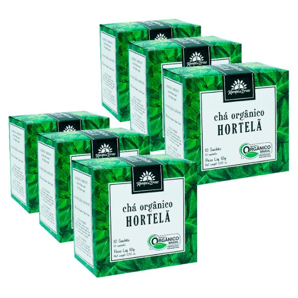 Hortelã Chá Orgânico e Certificado 60 sachês Kampo de Ervas