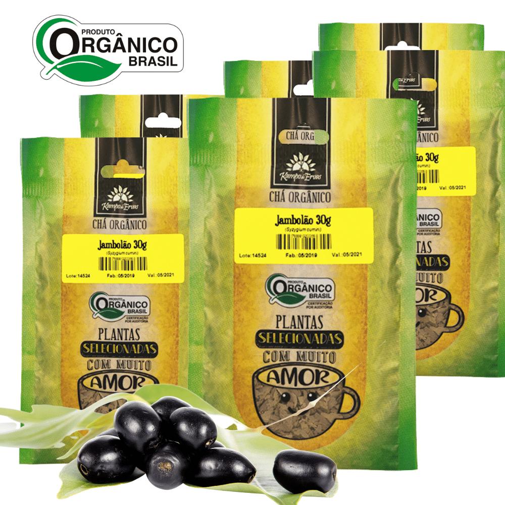 6 Chás de Jambolão 100% Folhas 30 g - Orgânico e Certificado