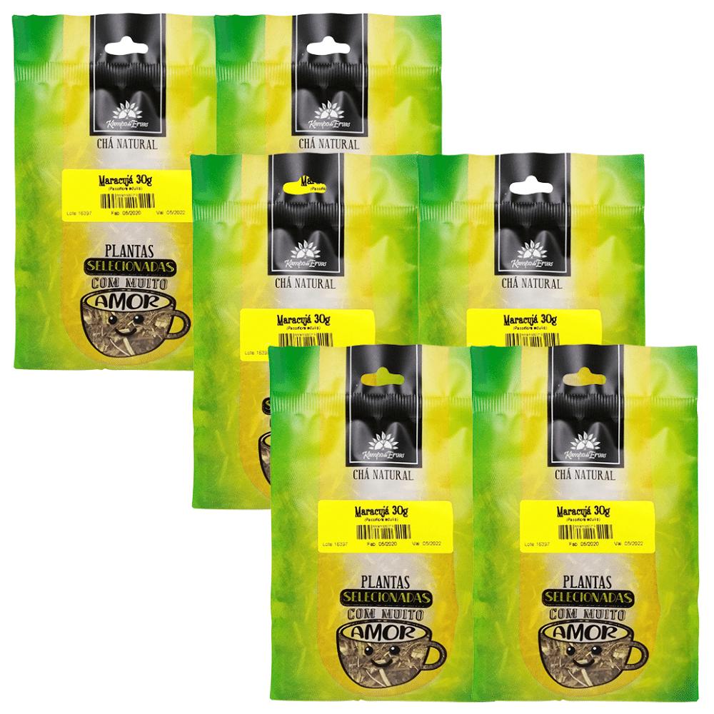 Maracujá Chá PURO 100 % Folhas 6 pacotes com 30 g cada