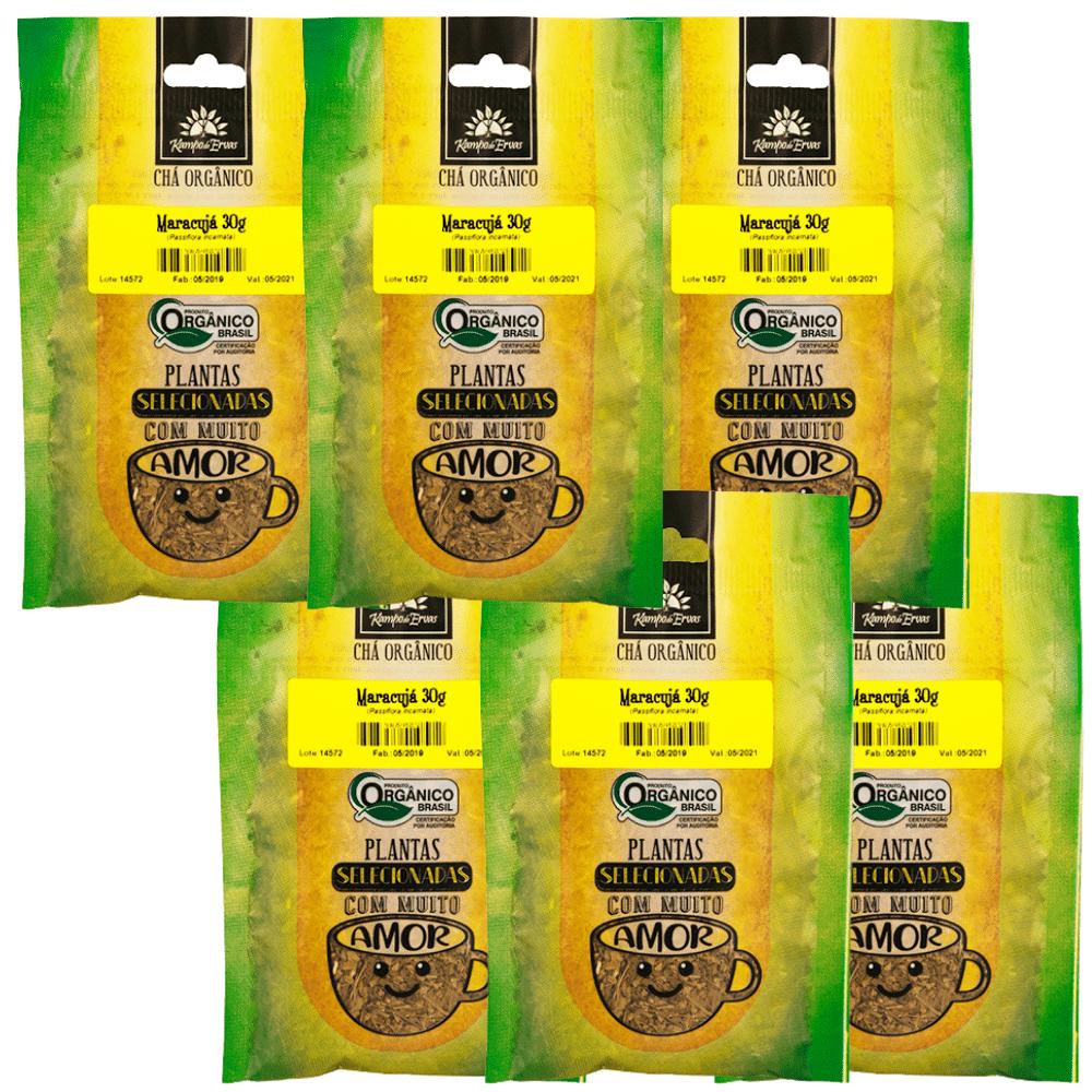 Maracujá Chá PURO 6 und 100% Folhas 30 g - Orgânico e Certif