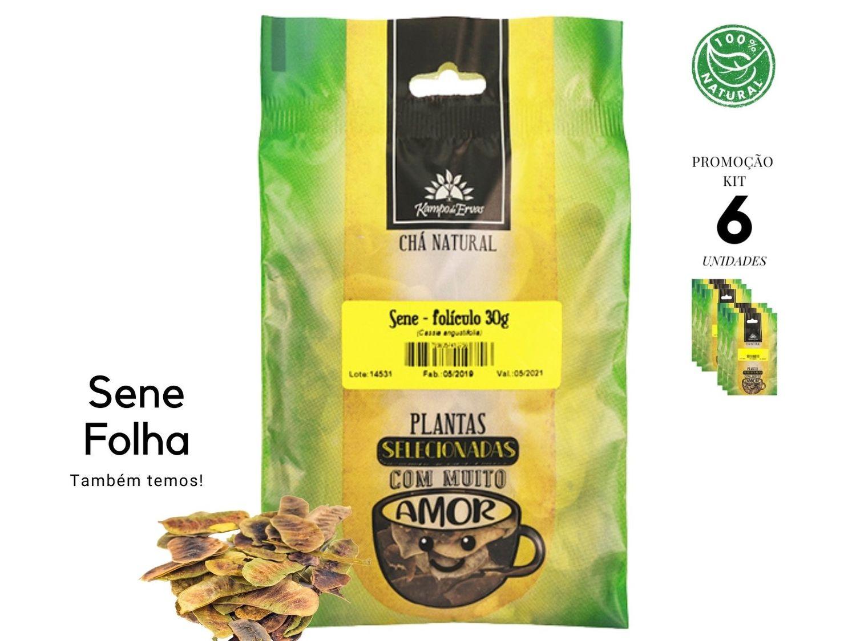 Sene Folículo Chá 100% Natural Kampo de Ervas 6 und 30g cada