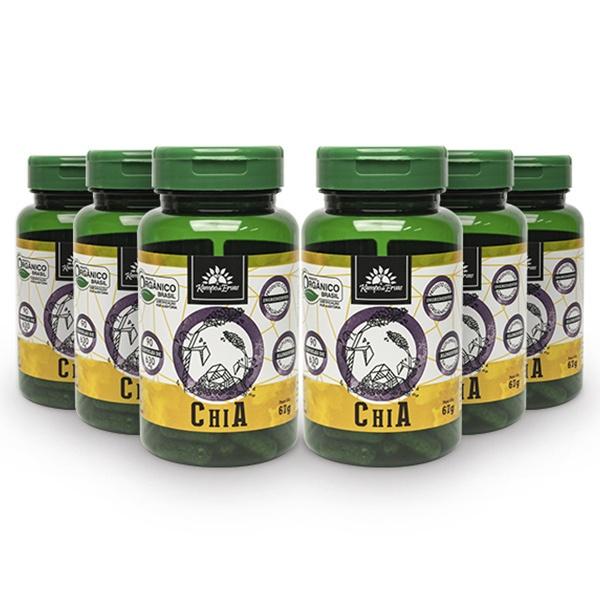 6 Chia Pura - 90 Cápsulas De 630 Mg - Orgânica E Certificada