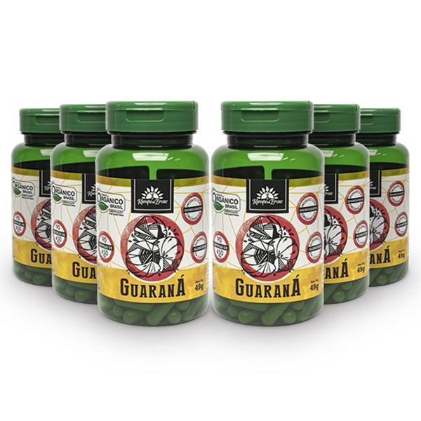 6 Guaraná Puro - 90 Cáps de 450 Mg - Orgânico e Certificado