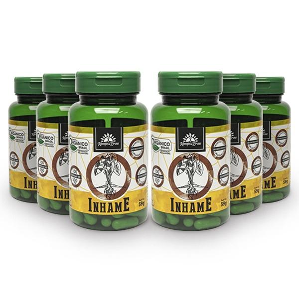 Inhame Orgânico Cápsula 500 mg Kampo de Ervas 6und 600 cáps