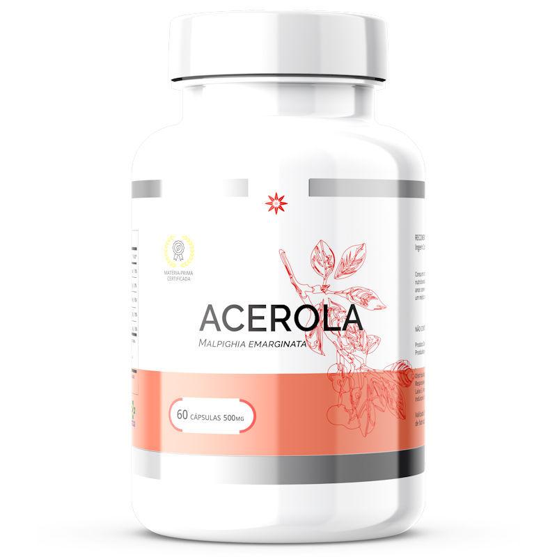 Acerola - Extrato Padronizado - 500mg 60 Cápsulas
