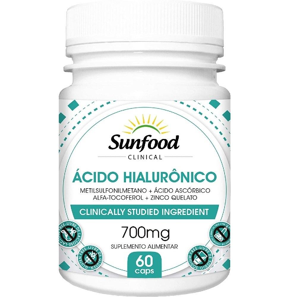 Ácido Hialurônico 700 mg 60 Cáps. Sunfood
