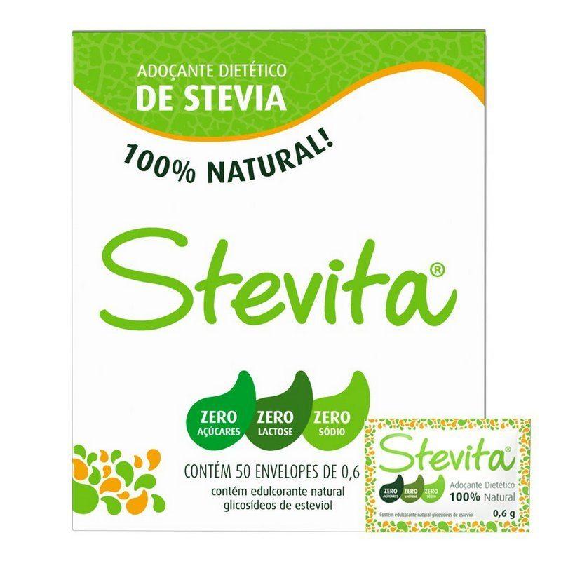Adoçante Dietético Stevia Natural - Sachê  50 Envelopes
