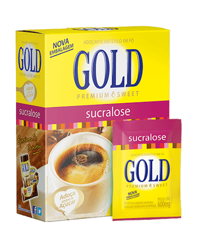 Adoçante Dietético Sucralose em Pó – Gold – 50 Envelopes 0,6g
