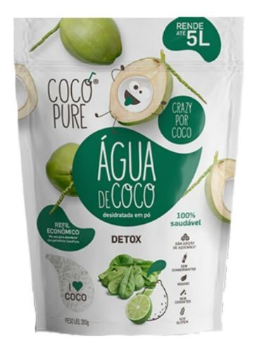 Água De Coco Em Pó Detox 200g - Five Diamond