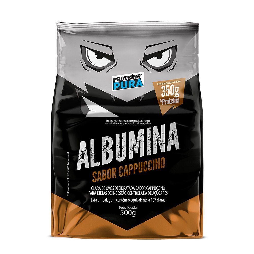 Albumina 500Gr Cappuccino Proteina Pura