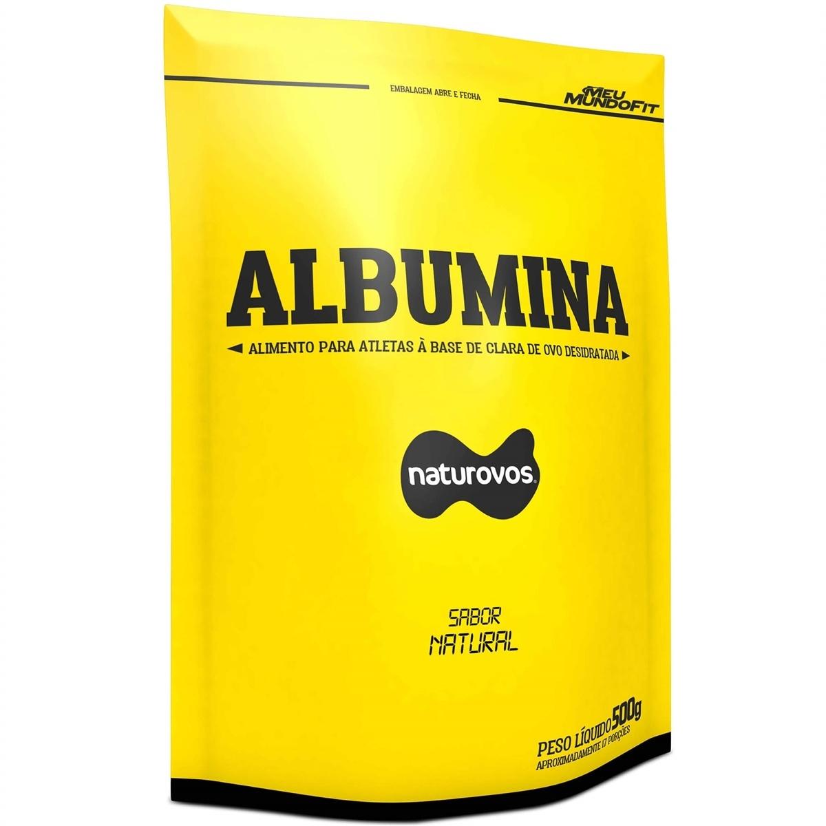 Albumina 83% 500G Natural - Natural Ovos