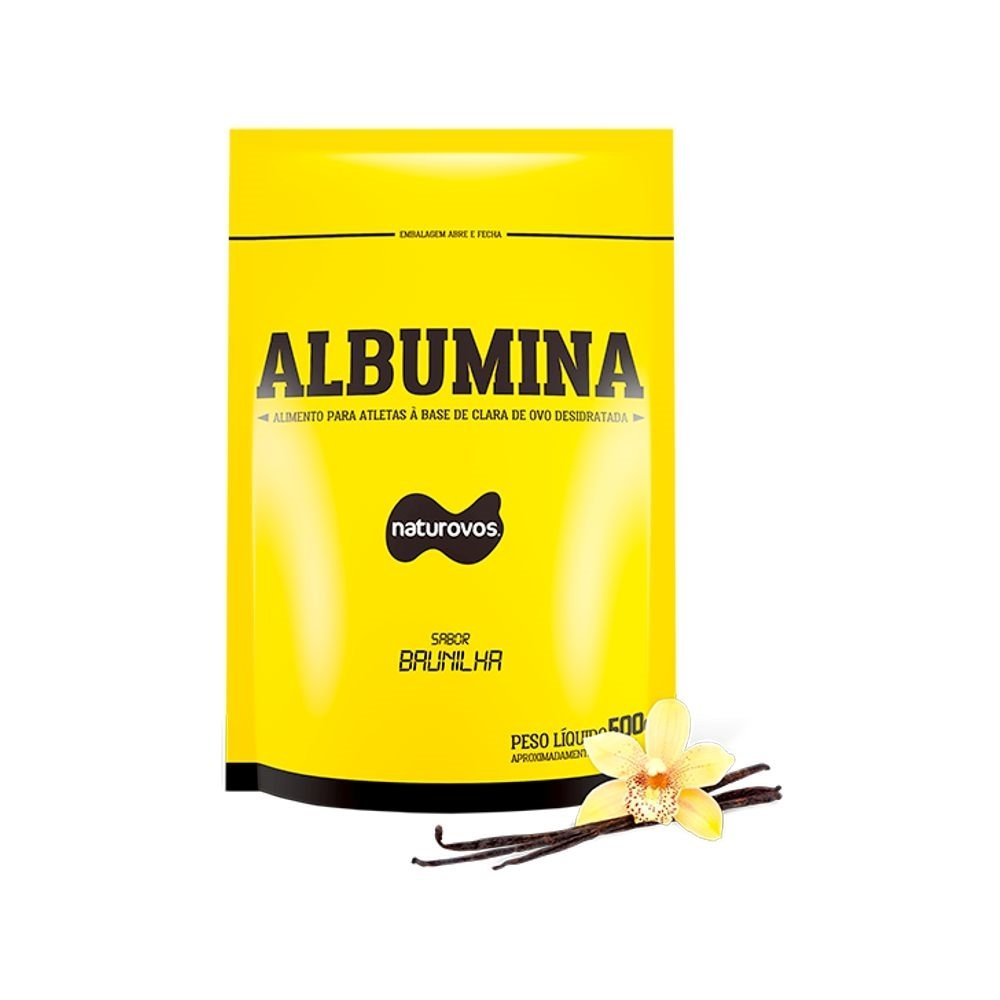 Albumina Pura 500Gr Com Sabor - Naturovos-Baunilha