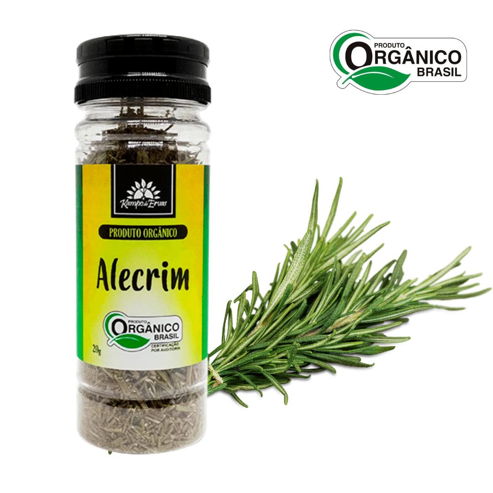 Alecrim Orgânico desidratado frasco 20 g Kampo de Ervas