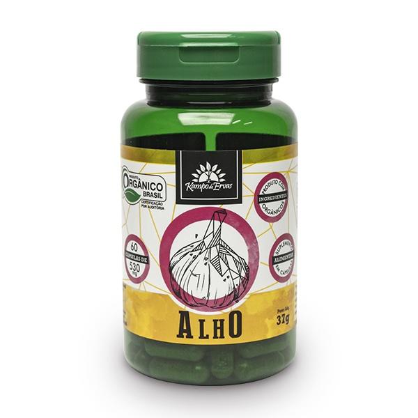 Alho - 60 cáps 530 mg / 3,2 mc ALICINA - Orgânico e Certific
