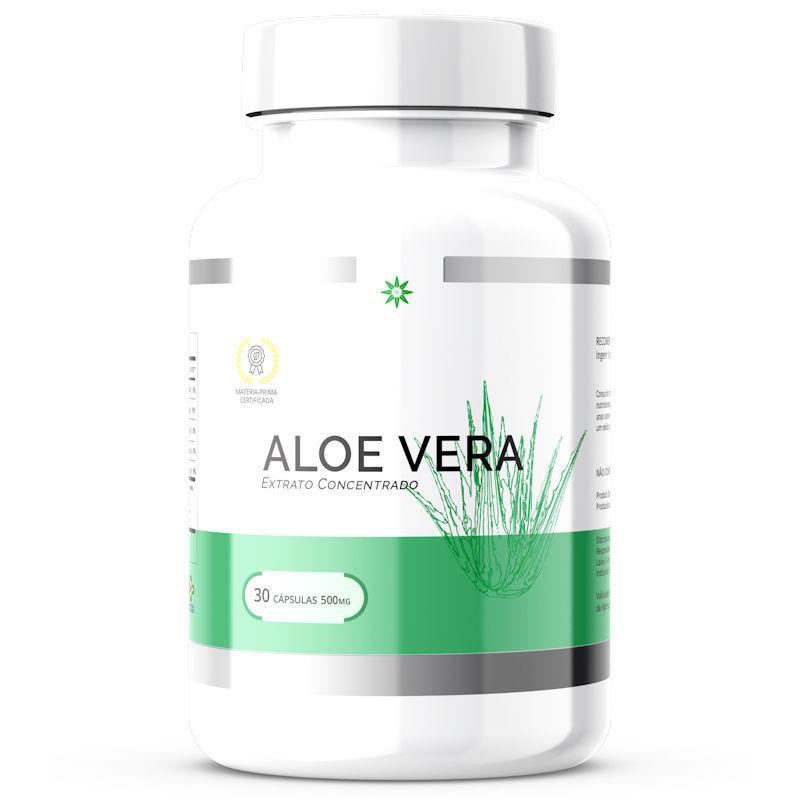 Aloe vera - Babosa - Orgânica Liofilizada 500mg 30 Cápsulas