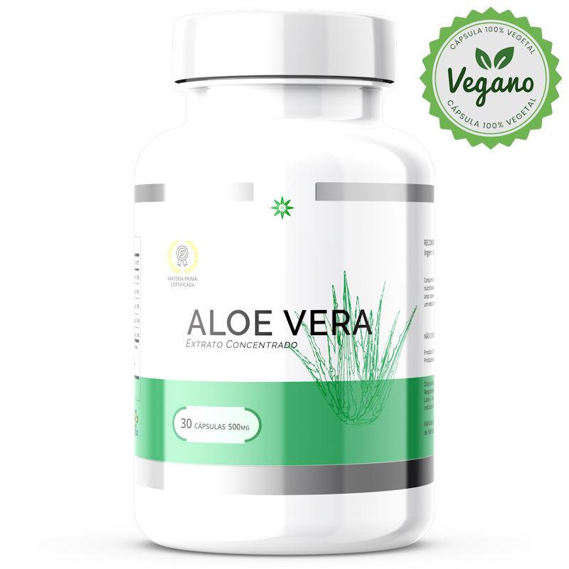 Aloe vera VEGANA - Babosa - Orgânica Liofilizada 500mg 30 Cápsulas