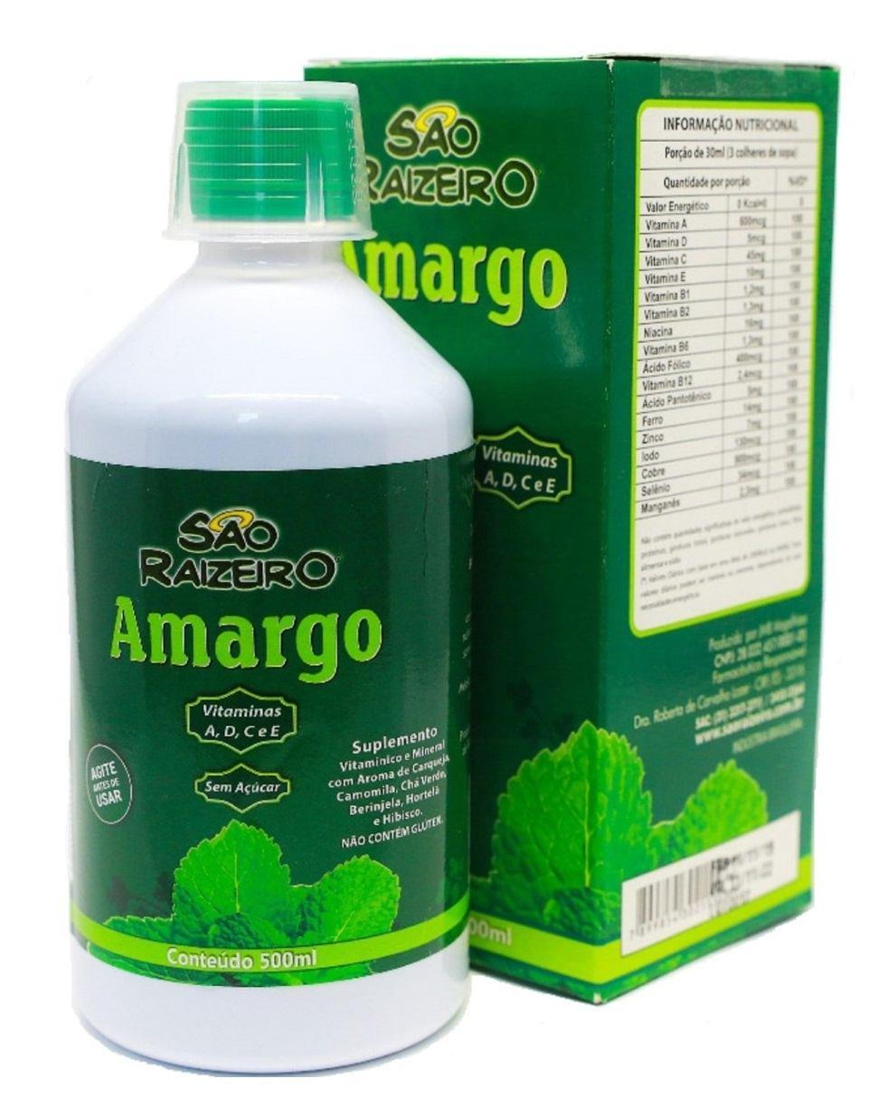 Amargo São Raizeiro 500ml (Azia e Má Digestão)