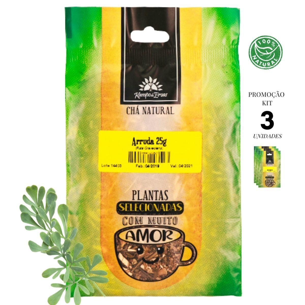 Arruda Chá das Folhas Kampo de Ervas 3 und 25 gramas cada