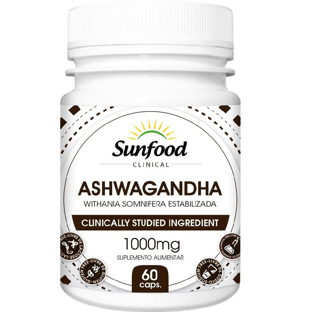 Ashwagandha 500 mg 60 Cáps. Sunfood