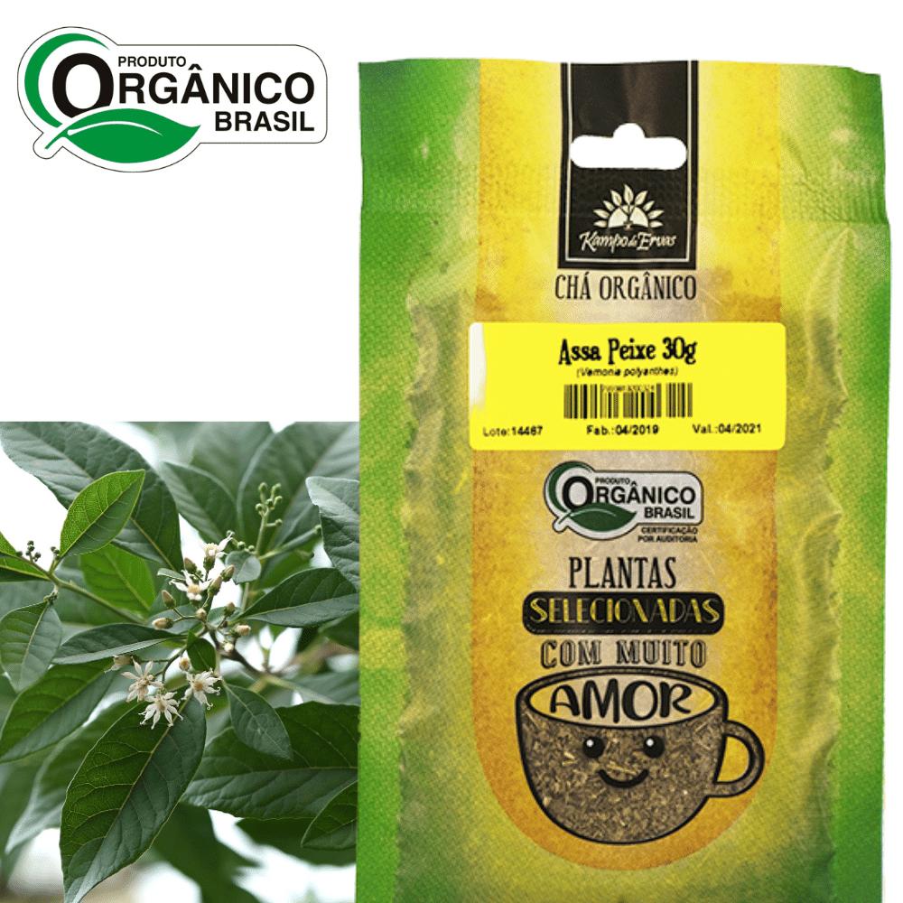 Assa-peixe Chá Orgânico só Folhas Kampo de Ervas 30 gramas