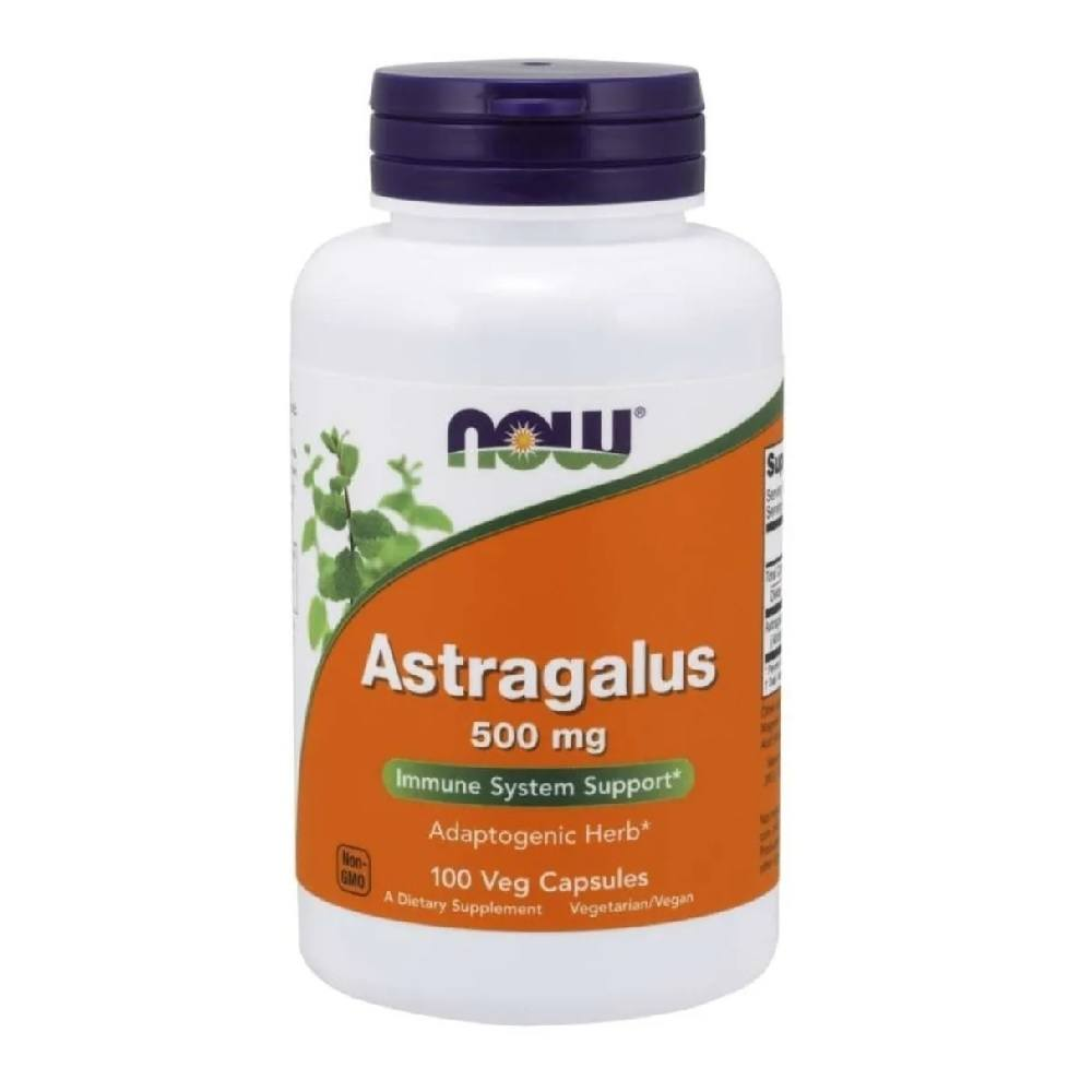 Astragalus 500 mg 100 Cáps. Now Foods