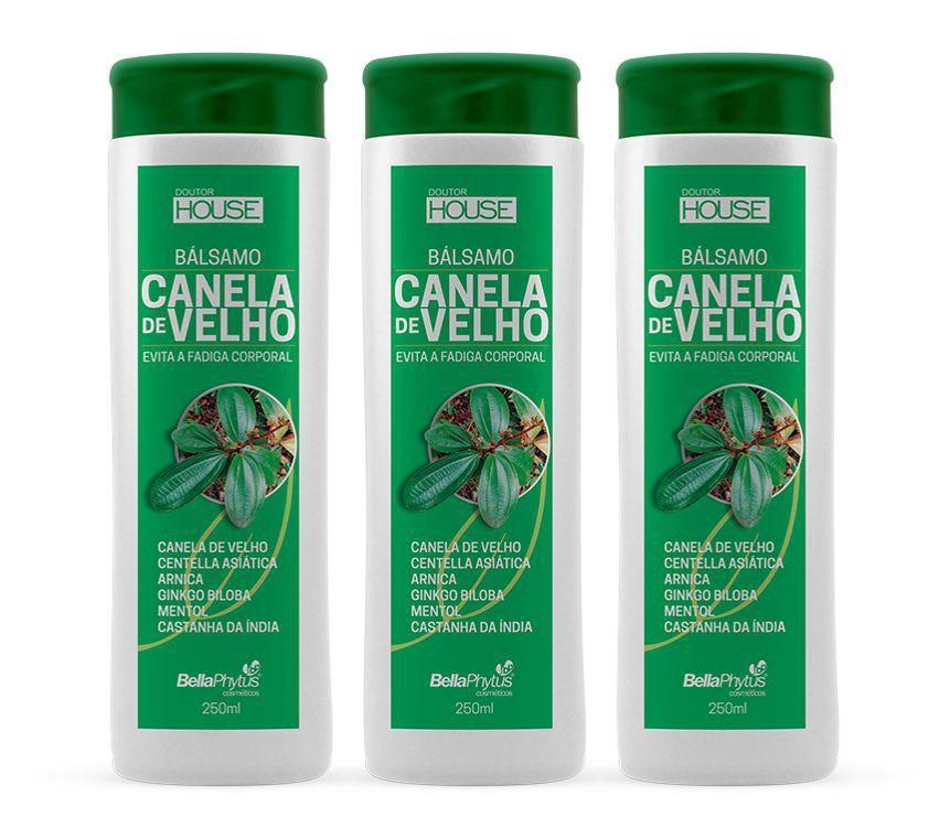 Balsamo Canela De Velho 250ml Kit c/ 3 Frascos Bellaphytus