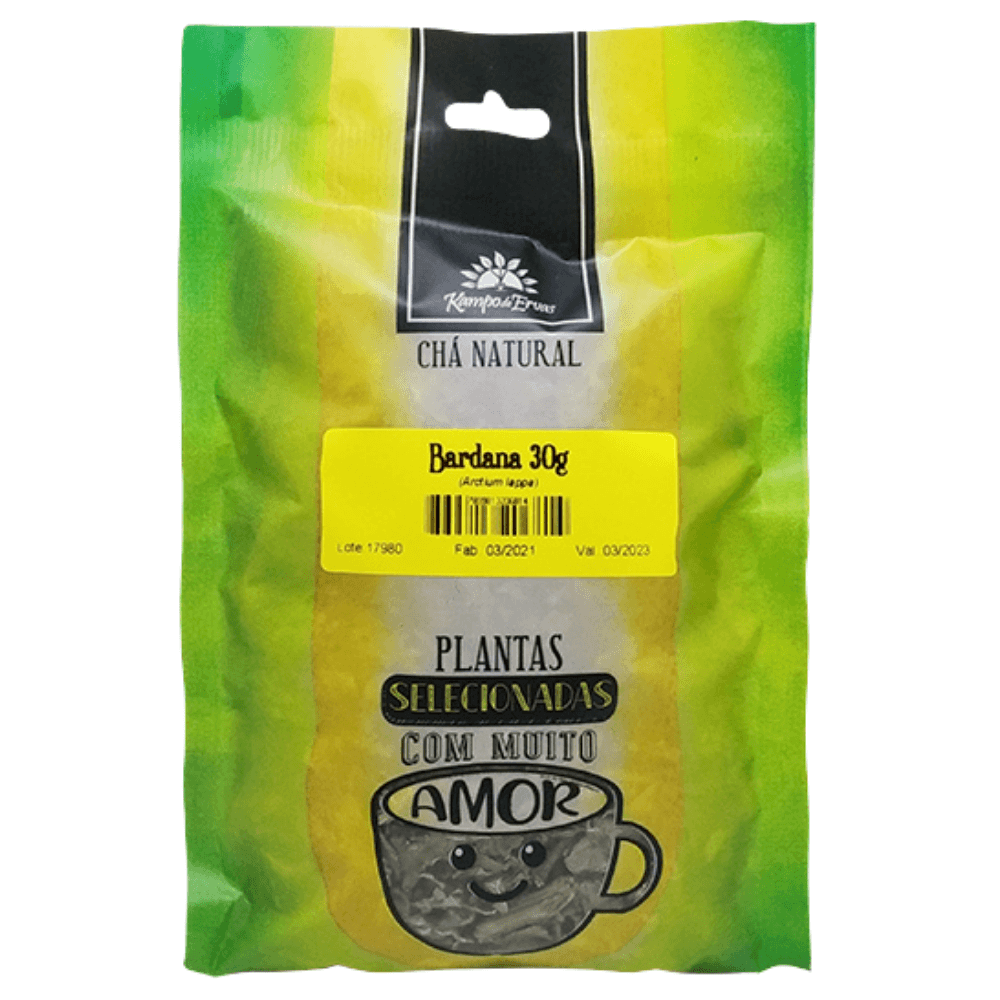 Bardana Chá Puro 100% Folhas Kampo de Ervas 30 gramas