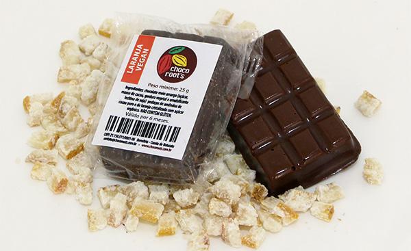 Barrinha Chocolate e Laranja cristalizada - 25gr