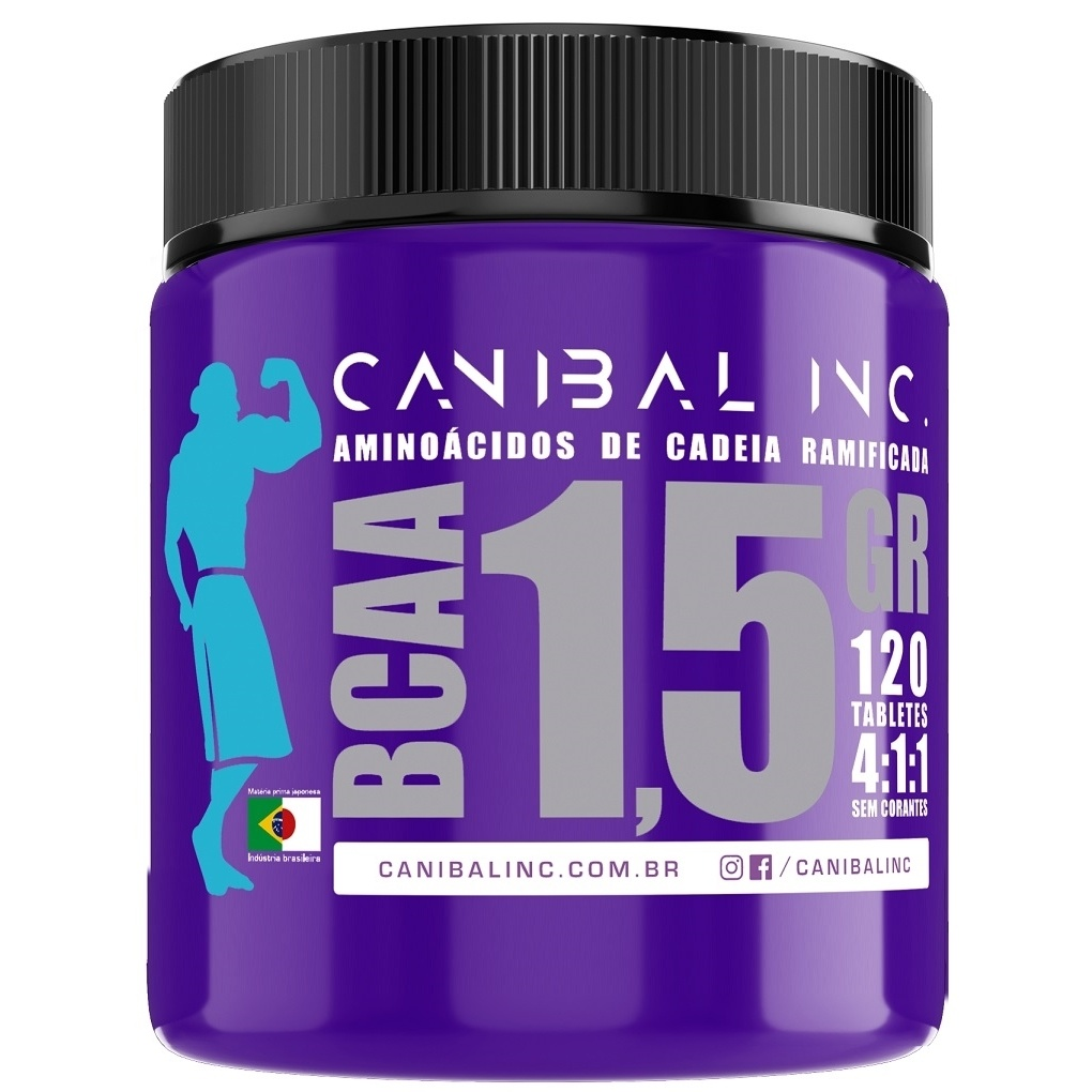 Bcaa 1.5Gr 120 Comprimidos - Canibal Inc