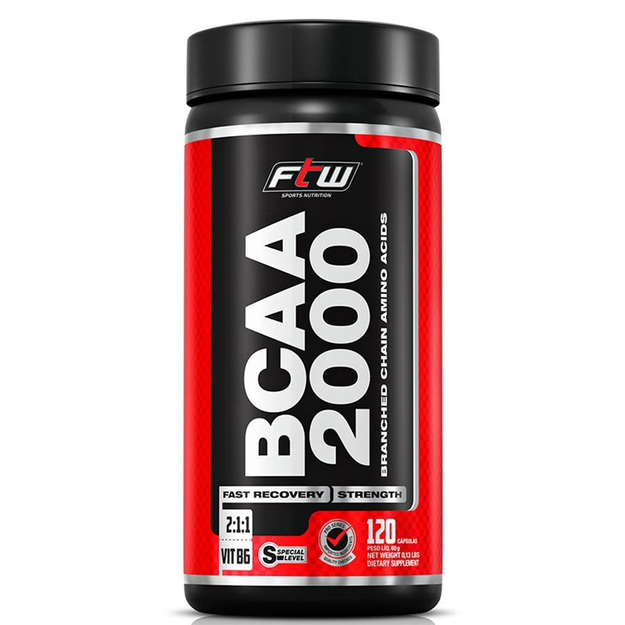 Bcaa 2.000 500Mg Ftw - 120 Caps - Fitonutrition